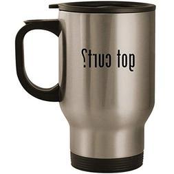 got curt? - Stainless Steel 14oz Road Ready Travel Mug, Silv