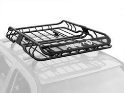 Heavy-Duty Roof Mounted Cargo Rack Car Vehicle Basket Steel