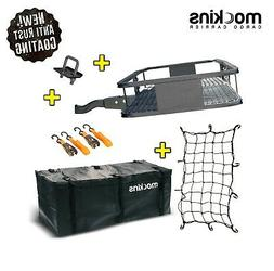 Mockins Hitch Mount Cargo Carrier with Cargo Bag and Net  Th