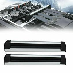 HOT! Pair Car Top Roof Rack Ski Snowboard Carrier Mount For