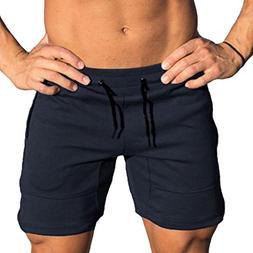 iOPQO Shorts for Men, Jim Casual Sports Jogging Elastic Pant