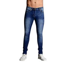 iOPQO Jeans Men, Stretch Skinny Biker Cargo Slim Fit Denim C