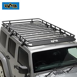 EAG 07-18 Jeep Wrangler JK 4 Door Full Length Roof Rack Carg