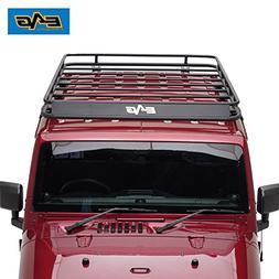 EAG 2007-2018 Jeep Wrangler JK Full Length Roof Rack Cargo B