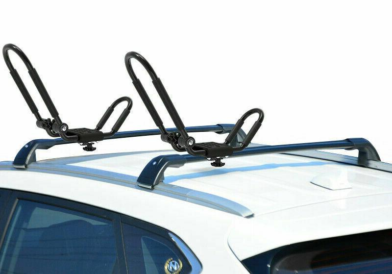 1Pair folding Universal Car Roof Rack J-Bar Canoe Mount Carrier A2