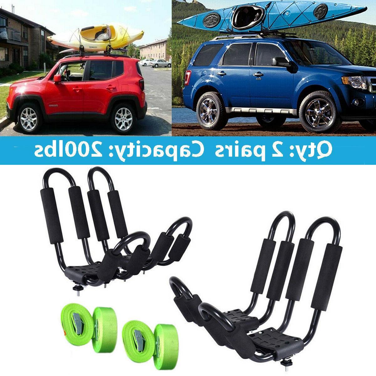 1pair folding universal kayak car roof rack