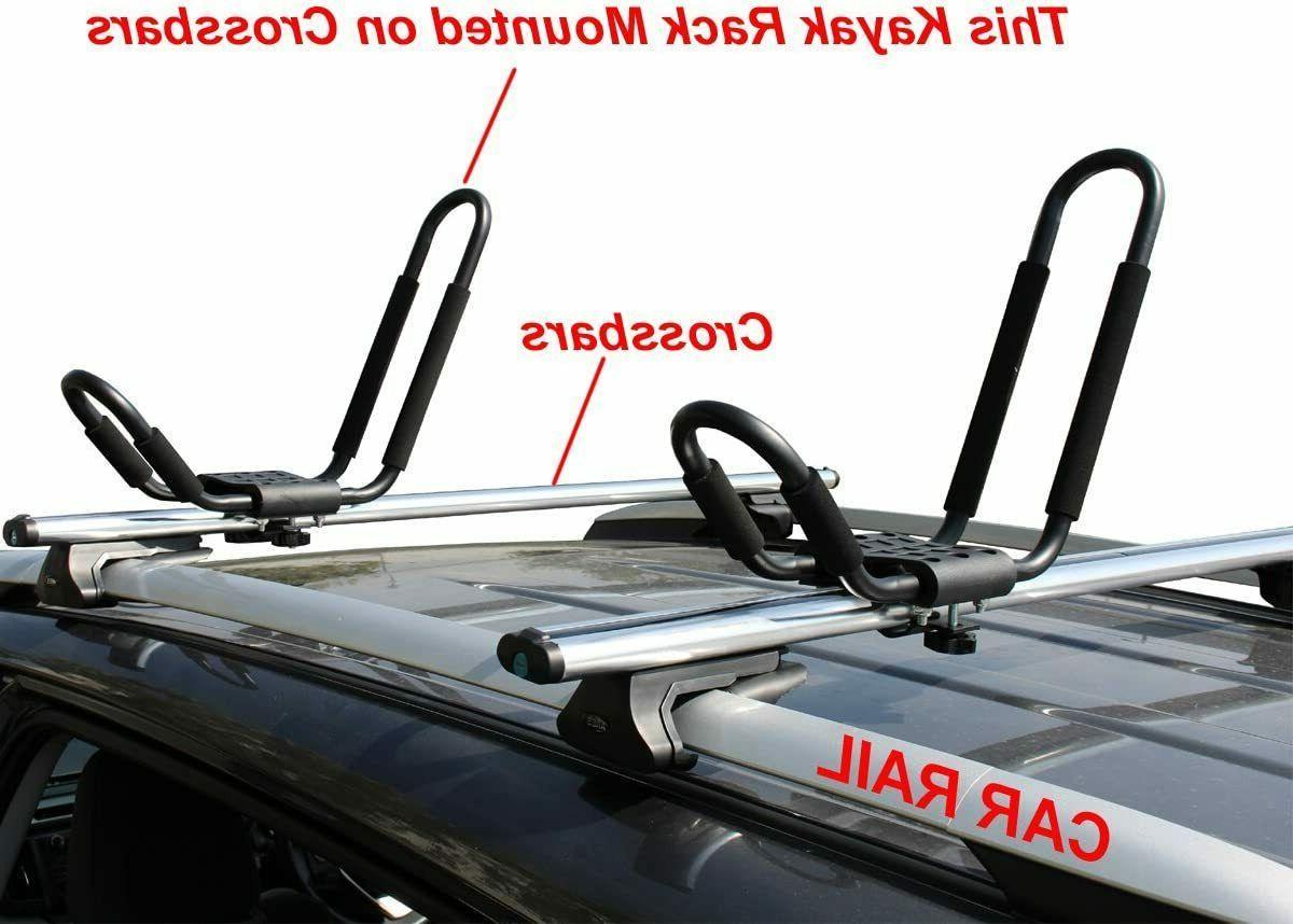 2 Pairs J-Bar Rack HD Kayak Carrier Canoe Boat Surf Ski Roof