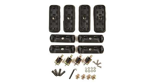 Inno Car Racks Black Set of 4 and Fixed Points INNO IN-TR Base Stays for Specialized Factory Tracks Side Rails