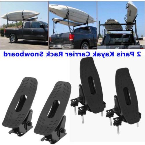 2Pair Saddle Kayak Carrier Rack Top Roof Mount Snowboard Can
