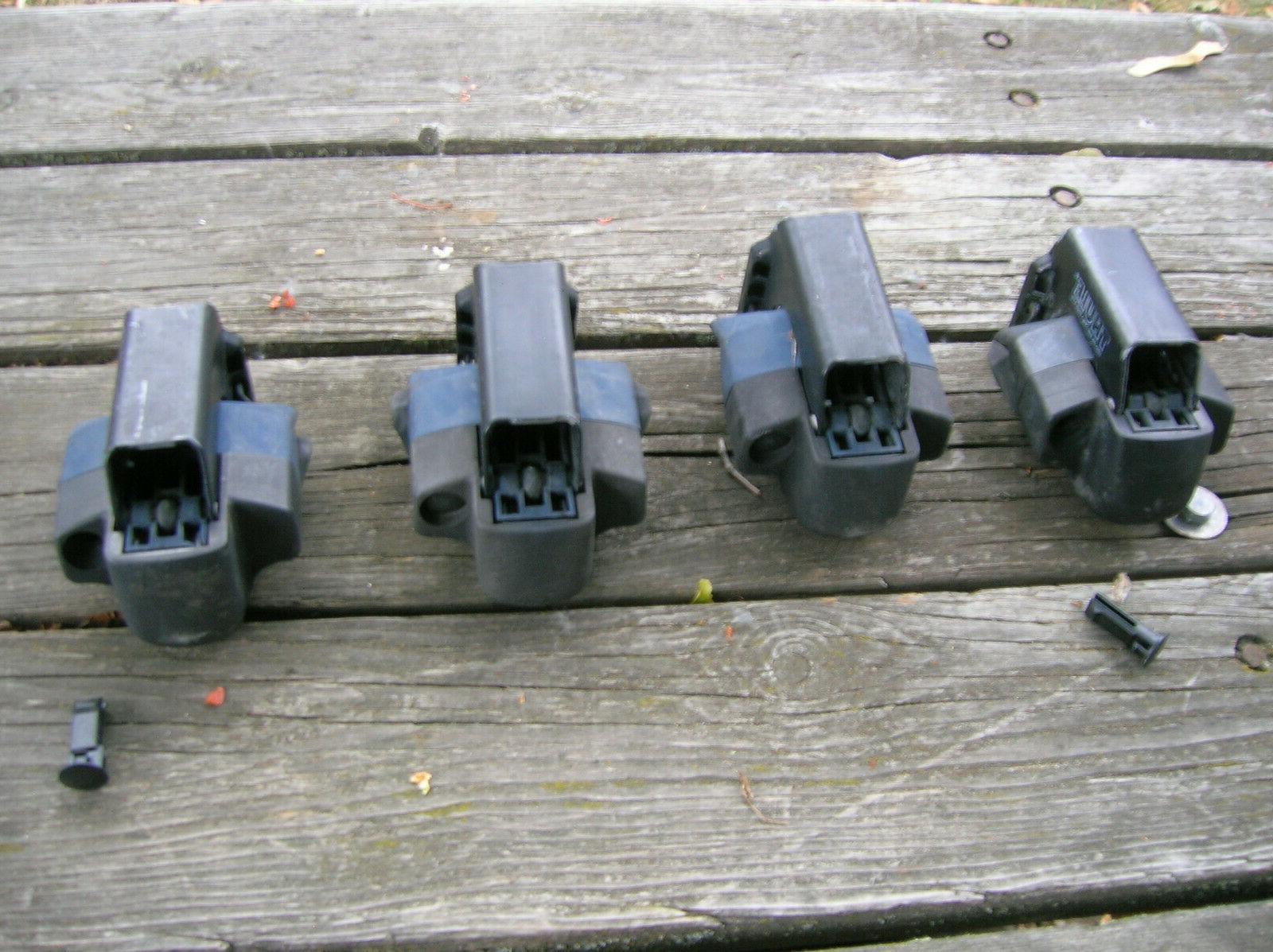 4pc THULE foot roof rail no no lock