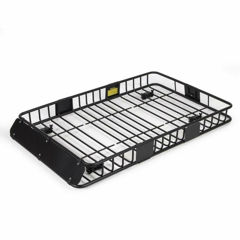 64 universal black roof rack cargo