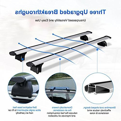 """AUXMART 36.1""""- Roof Cross Luggage Carrier Most Mount Bars"""