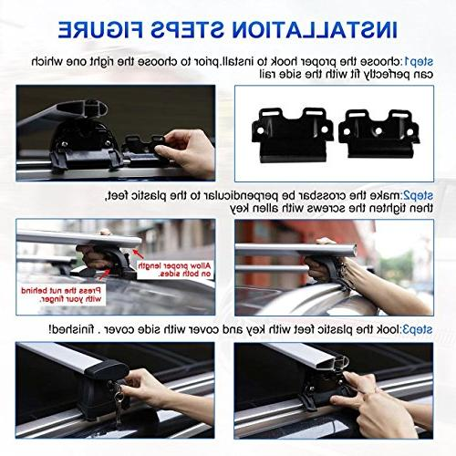 """AUXMART 40"""" Roof Luggage for Most Mount Side Roof Bars"""