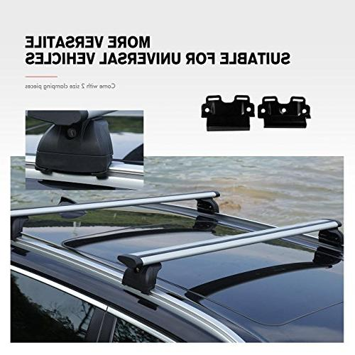 """AUXMART 40"""" Universal Roof Cross Luggage Most with Mount Side Rails Bars"""