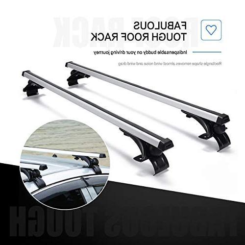 AUXMART Bare-Roof Mounted Rack Cross Bar Aluminum