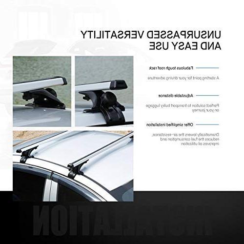 "AUXMART 48"" Universal Mounted Roof Bar Set,"