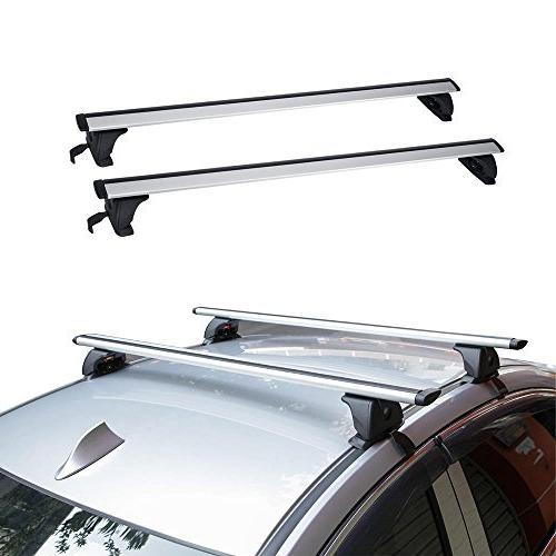 "AUXMART 49"" Universal Roof Rack Cross Bars - Fit Bare Roofs"