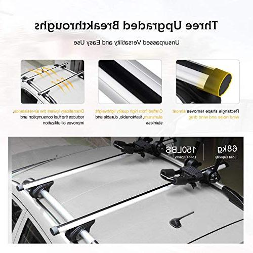 AUXMART Universal Rack Cross Bars Fit Your Car SUV with Raised Rails