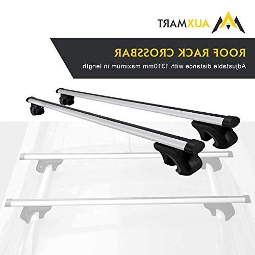 """AUXMART 54"""" Universal Roof Rack Cross Bars - Fit Your Car or"""