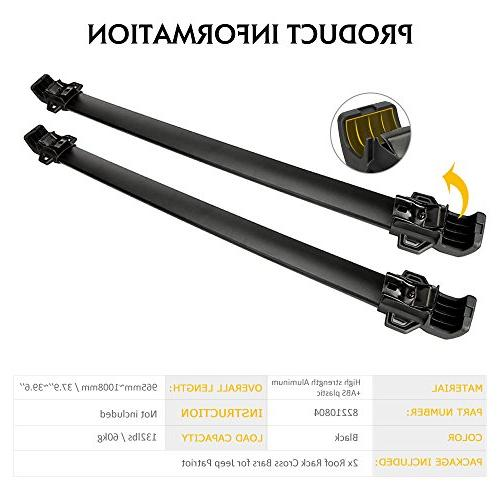 AUXMART Roof Rack Bars for Patriot