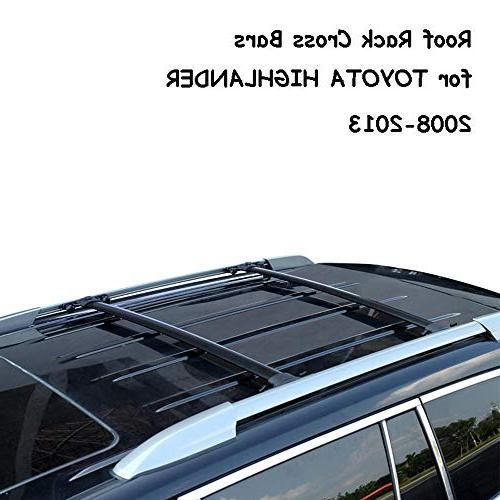 AUXMART Roof Rack Cross Bars for 2008–2013 Toyota Highland