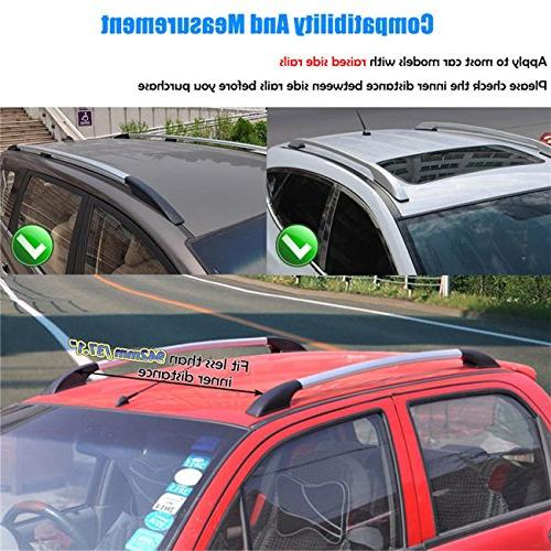 AUXMART Universal Roof Rack Crossbars with keys Fit Most with Raised Side