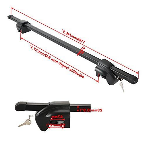 AUXMART Universal Roof Crossbars with lock keys with Raised