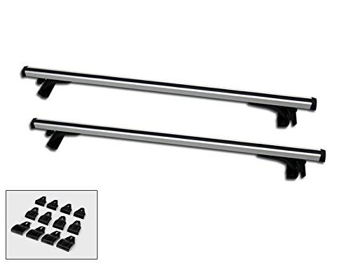 "Autobotusa 50"" Silver Aluminum Window Frame Roof Rail Rack C"