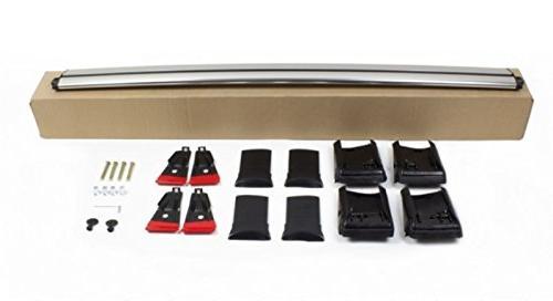 Lockable WingBar Aerodynamic Aluminium Cross Roof For E70 SUV 2007–2013 Silver Anodised