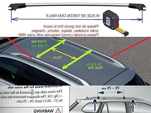 Lockable WingBar Aerodynamic Cross For X5 SUV