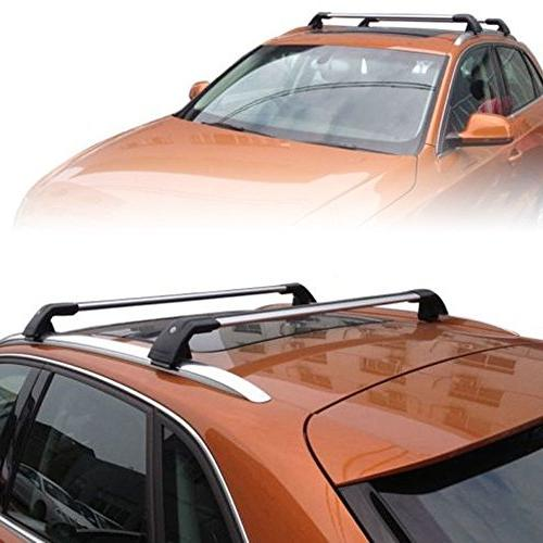Cargo Rack MotorFansClub Top Rail Roof Rack Cross Bars Crossbars for Audi Q7 2006-2016 US Shipment Luggage Carrier Lockable
