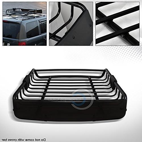 R&L Racing Black Roof Rack Basket Car Top Cargo Baggage Carr