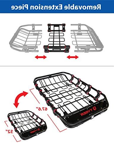 "Tyger Auto X-Large/68"" x x Super Roof Basket/Luggage Carrier Rack"