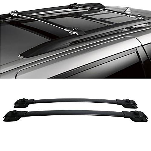 VioletLisa 1 Pair Black Adjustable Aluminum Mount Onto the R