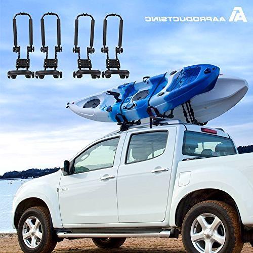 AA Steel Double Rack for Carrier Canoe Boat Paddle Board Surfboard Roof on Car Crossbar
