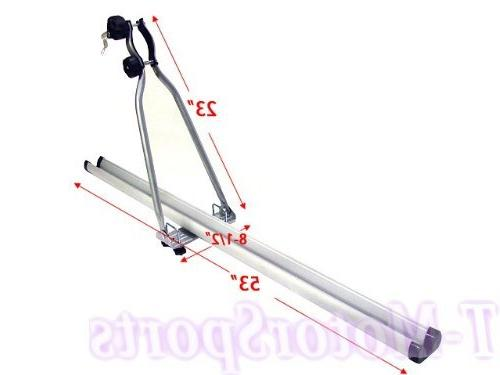 TMS Upright Roof Bike Bicycle Carrier W/lock