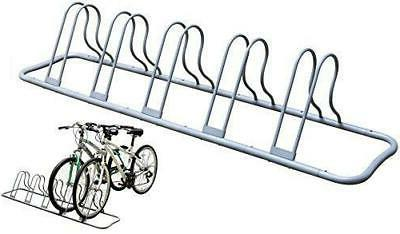 DecoBros 5 Bike Bicycle Floor Parking Adjustable Rack Storag