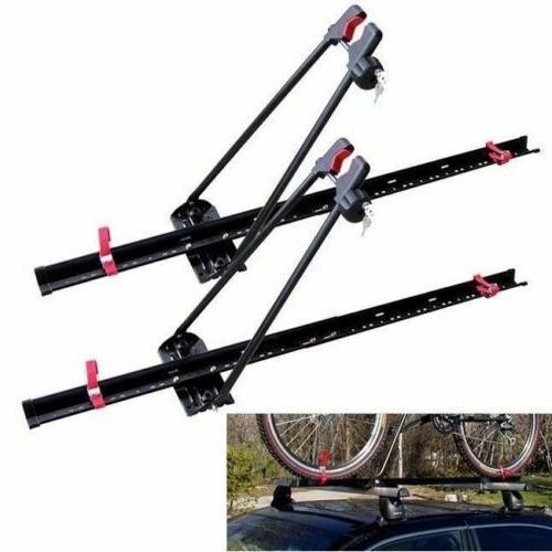Car Roof Bike Rack Upright Locking Set Carrier Dual 2 Univer
