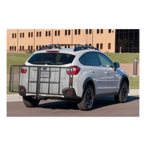 Cargo Carrier Truck Basket-Style Hitch Capacity Raised Folding