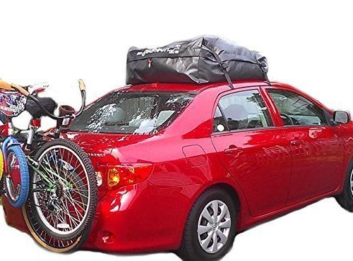 RoofBag 100% Waterproof, Made in Premium Triple Seal Protection, 2 Fits ALL Rails, Bars or No Rack, Bag includes Duty
