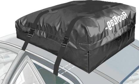 RoofBag Waterproof, in USA, Triple Seal for 2 Year Rails, Bars No Rack, Bag includes