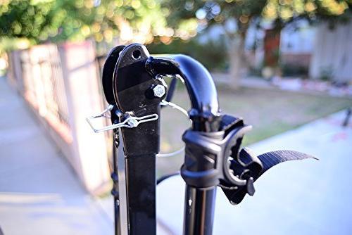 Allen Sports Deluxe 2-Bike Hitch , Silver/Black