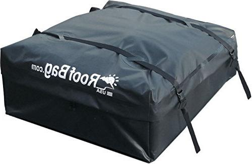 RoofBag 100% in USA, Premium Seal 2 Yr Warranty, ALL Cars: Side Rails, No Rack, Carrier Heavy Straps