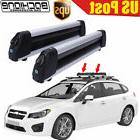 Flat Ski Roof Rack Carriers Unversal For Crossbar Carry 4 Sn