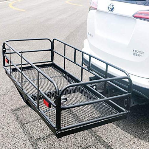 Merax Foldable Cargo Carrier Basket Luggage Rack