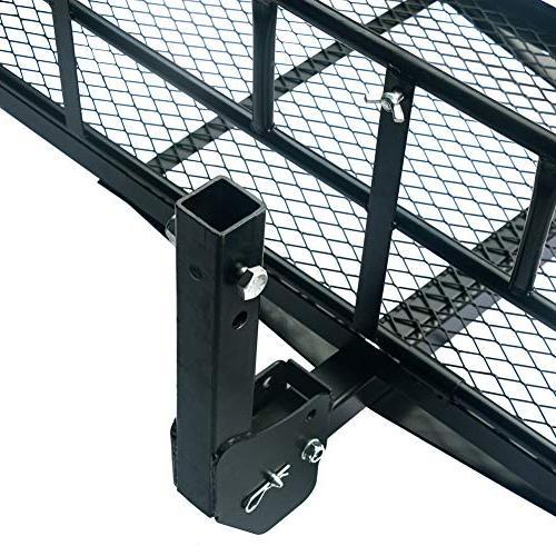 "Merax Foldable Hitch Cargo Carrier Rack 2"""