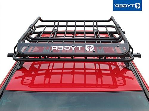 Tyger Heavy Duty Roof Mounted Cargo Basket Rack | x x Top Luggage Carrier with