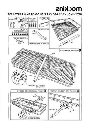 """Mockins Hitch Mount Carrier   The Cargo Basket Long 20"""" Wide X of Lbs and A Preserve Space in"""