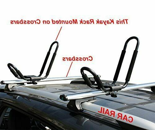 TMS J-Bar Kayak Carrier Surf Roof Mounted SUV