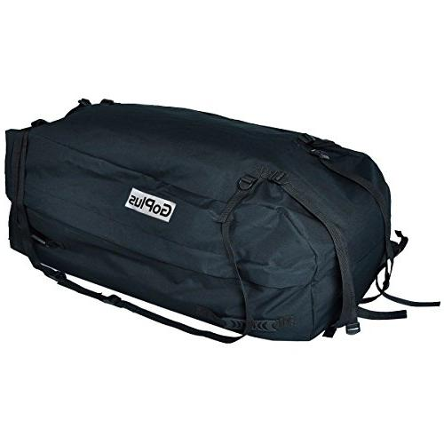 Goplus Jumbo Roof Top Luggage Travel Storage Bag Carrier